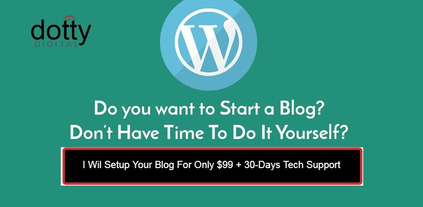 Blog Setup Service